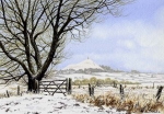 Snow over Glastonbury