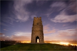 Glastonbury Tor, Night 4537 Canvas print