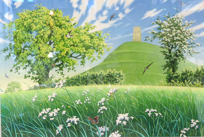 Red Admiral - Glastonbury Tor - Original Painting